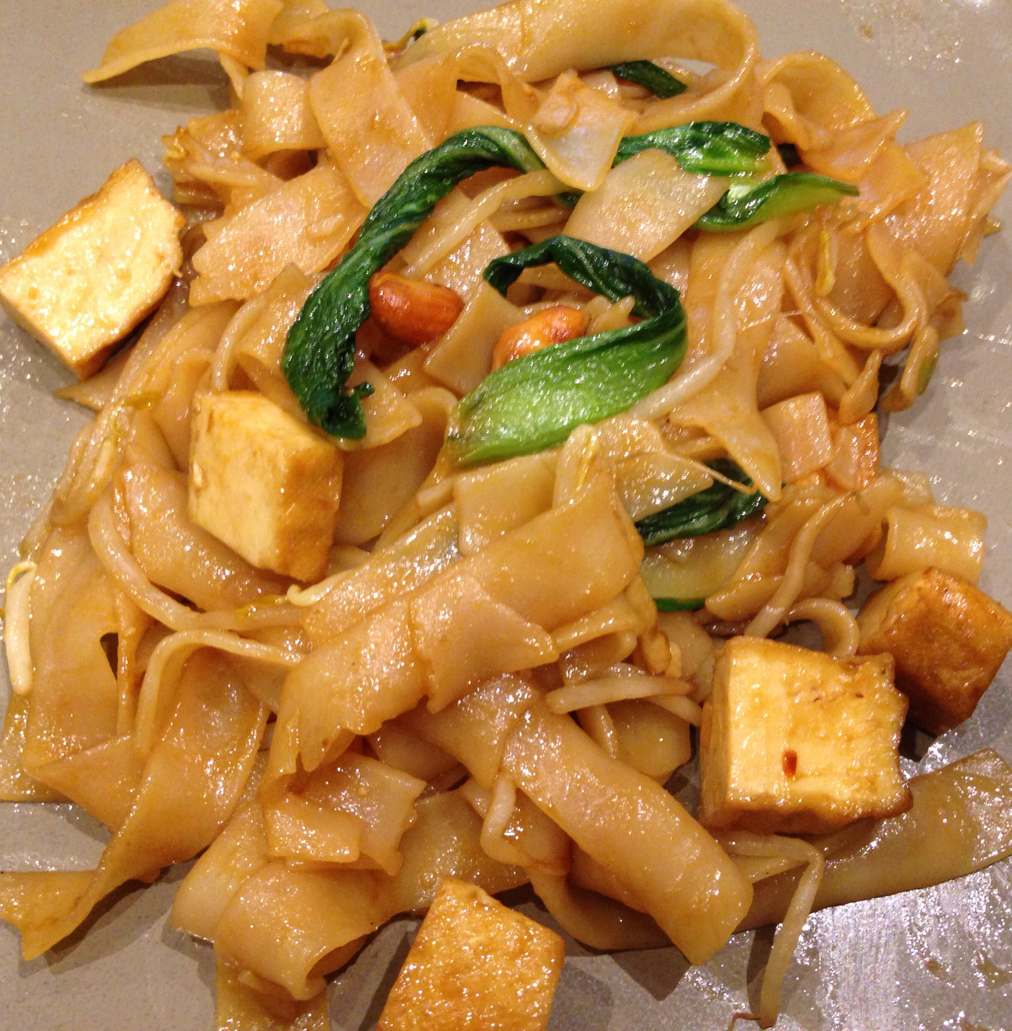 Thai Flat Noodles with Tofu & Bok Choy (Pad See Ew)
