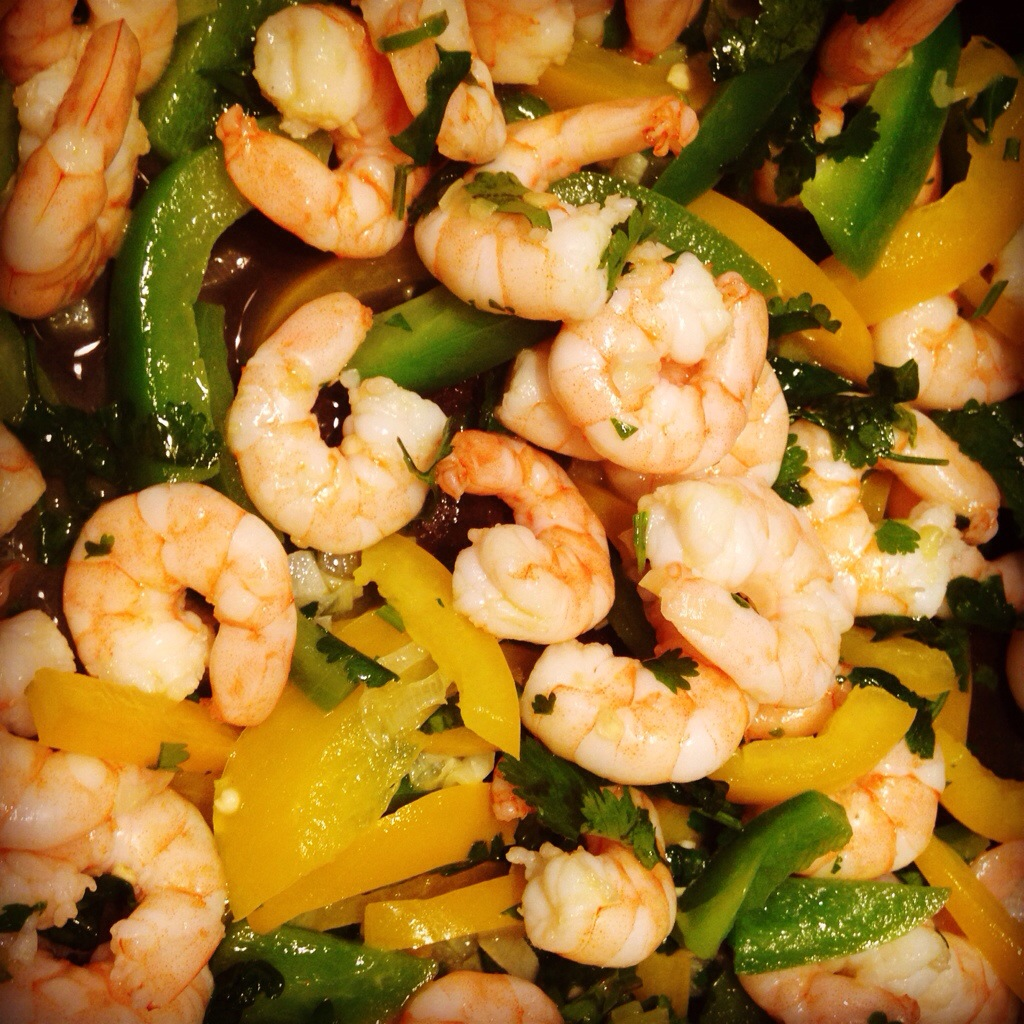 Chilli-Lime Prawn Fajitas