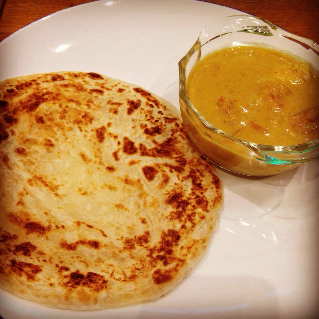 Sharon's Roti Canai with Malaysian Chicken Curry